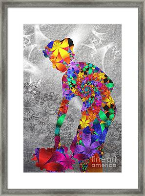 Flowerwoman Framed Print