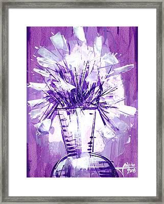Flowery Purple II Framed Print by Jose Julio Perez