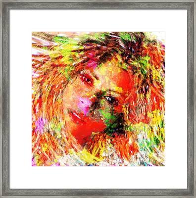 Flowery Shakira Framed Print by Navo Art