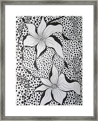 Flowery Spot Framed Print by Rosita Larsson