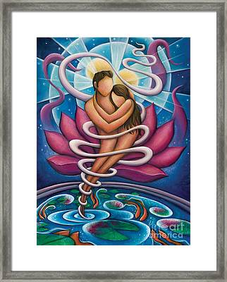 Flowing And Growing In The Arms Of Love Framed Print by Tiffany Davis-Rustam