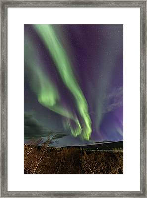 Flowing Aurora Framed Print by Hitendra SINKAR
