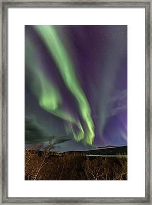 Flowing Aurora Framed Print