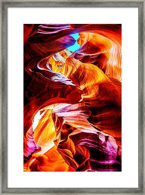 Flowing Framed Print by Az Jackson