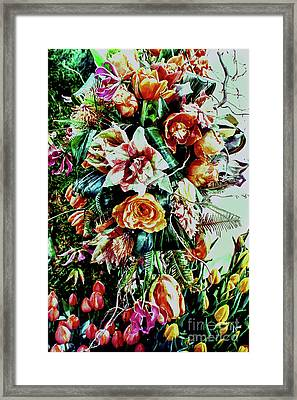 Flowing Bouquet Framed Print