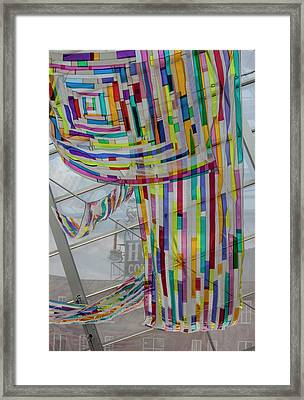 Flowing Color Framed Print by Suzanne Gaff