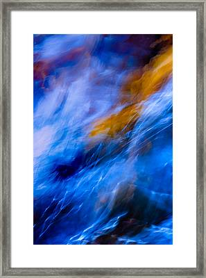 Flowing Curves Framed Print by Mah FineArt