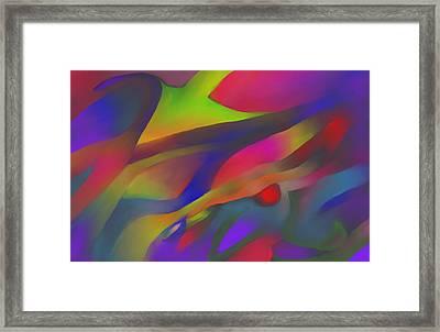 Flowing Energies Framed Print by Peter Shor