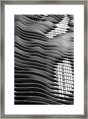 Flowing Facade Framed Print by Andrew Soundarajan