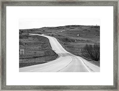 Flowing Highway Framed Print