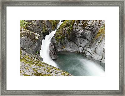 Flowing Into A Pool Framed Print