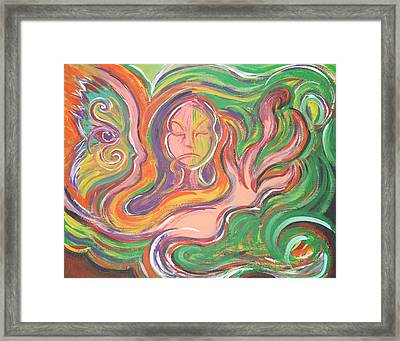 Flowing Framed Print by Jessica Kauffman