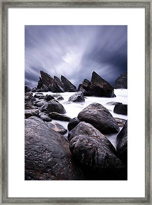 Flowing Framed Print by Jorge Maia