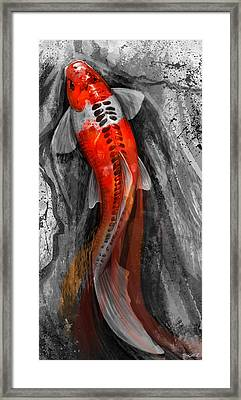 Flowing Koi Framed Print by Steve Goad