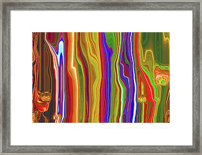 Framed Print featuring the photograph Flowing Light by Larry Bishop