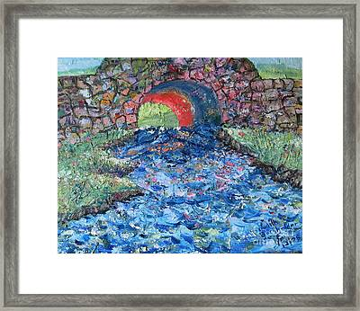 Flowing On Framed Print by Judith Espinoza