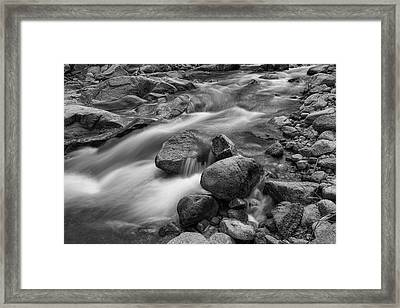 Framed Print featuring the photograph Flowing Rocks by James BO Insogna