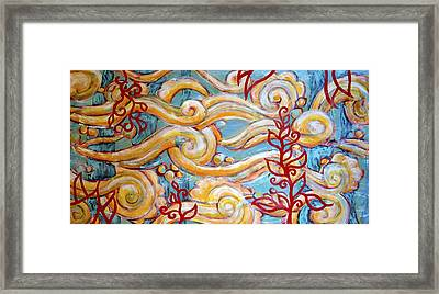 Flowing Framed Print by Sara Zimmerman