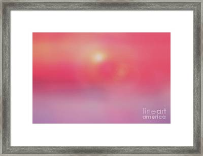 Flowing Sunset Abstract Framed Print by Benanne Stiens