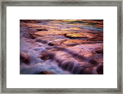 Flowing Tide Framed Print