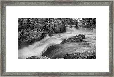 Flowing Waters At Kern River, California Framed Print