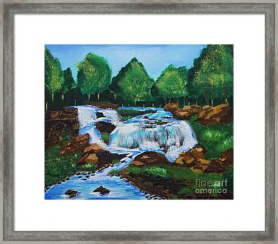 Flowing Waters Framed Print