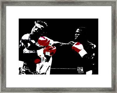 Floyd Mayweather And Arturo Thunder Gatti 2 Framed Print