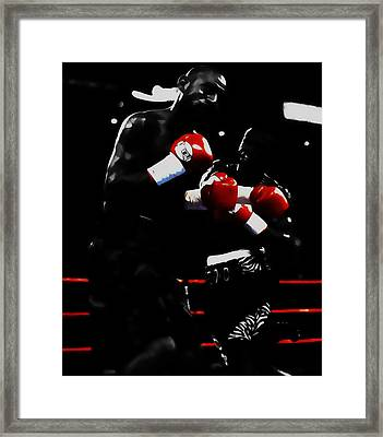 Floyd Mayweather And Diego Chico Corrales Framed Print by Brian Reaves