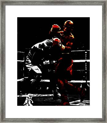 Floyd Mayweather Beat Down Framed Print by Brian Reaves