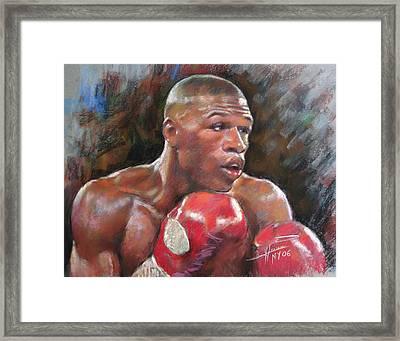 Floyd Mayweather Jr Framed Print by Ylli Haruni