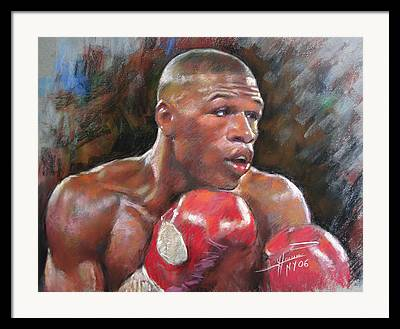Champ Boxer Framed Prints
