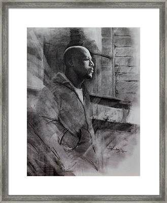 Framed Print featuring the drawing Reflections Of Floyd Mayweather by Noe Peralez