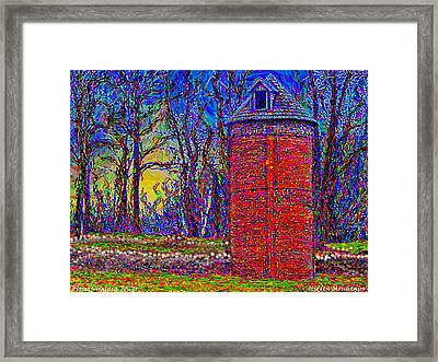 Framed Print featuring the painting Floyd,virginia Tower by Hidden Mountain