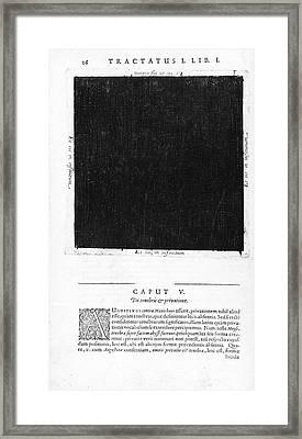 Fludds Dark Universe, 1617 Framed Print