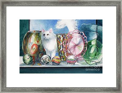 Fluff And Stuff Framed Print