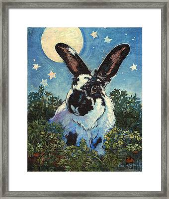 Fluffston Dines Out Framed Print by Tracie Thompson