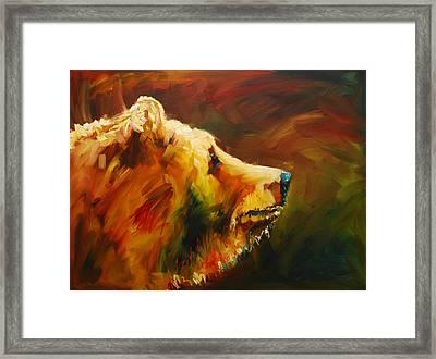 Fluffy Bear Framed Print