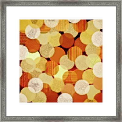 Fluffy Dots Framed Print