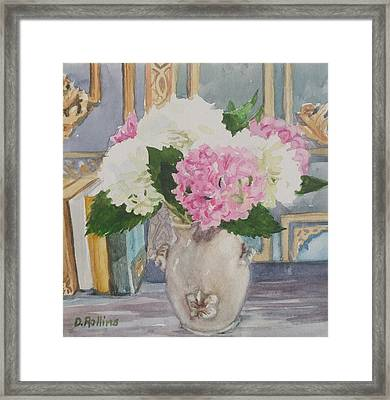Fluffy Flowers Framed Print