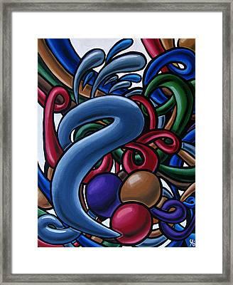 Fluid 1 - Abstract Art Painting - Chromatic Fluid Art Framed Print