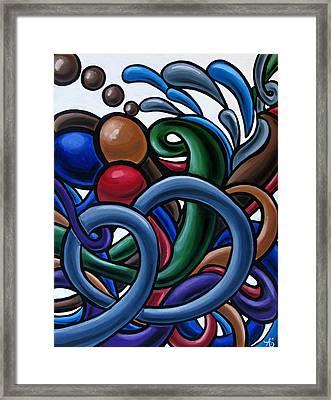 Fluid 2 - Original Abstract Art Painting - Chromatic Fluid Art Framed Print