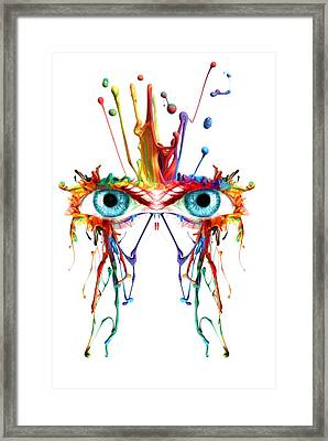 Fluid Abstract Eyes Framed Print by Robert G Kernodle