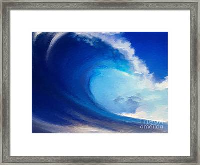 Fluid Framed Print by Anthony Fishburne