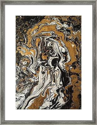 Fluid Gold Framed Print by Robert Chambers