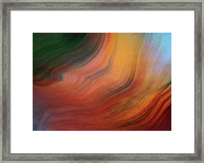 Fluid Lucidity Abstract Framed Print by Georgiana Romanovna