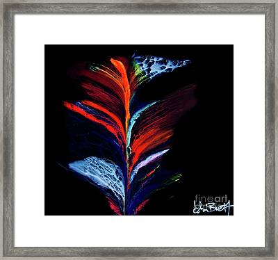 Fluidity Black #1 Framed Print