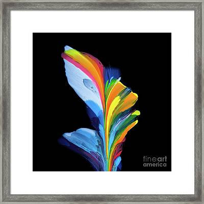 Fluidity Black #4 Framed Print