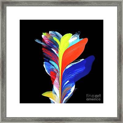 Fluidity Black #5 Framed Print