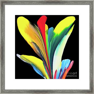 Fluidity Black #7 Framed Print