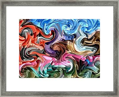 Framed Print featuring the digital art Fluidity by Shelli Fitzpatrick